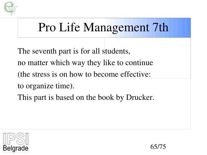 Pro Life Management 7th