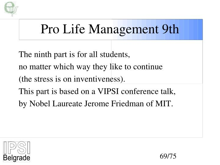 Pro Life Management 9th