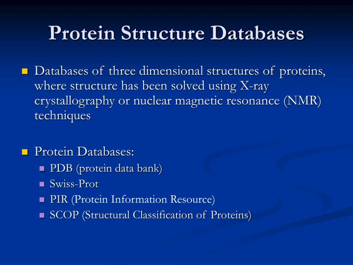 protein structure databases n.