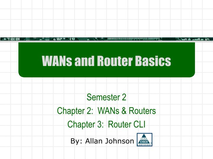 wans and router basics n.