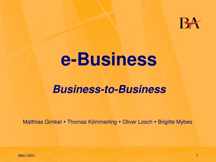 e business business to business n.