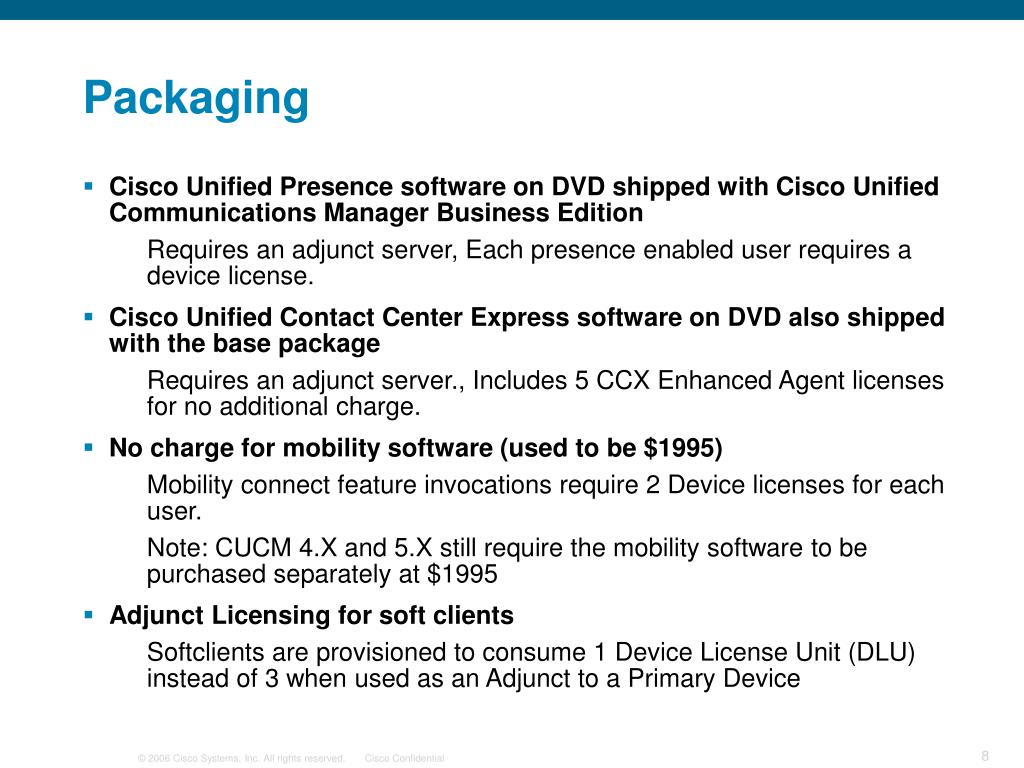 PPT - Cisco Unified Communication Manager Business Edition Overview