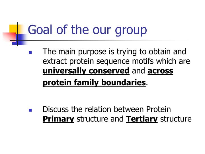 Goal of the our group
