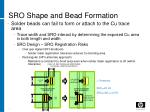 sro shape and bead formation
