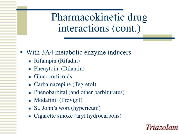 Pharmacokinetic drug interactions (cont.)