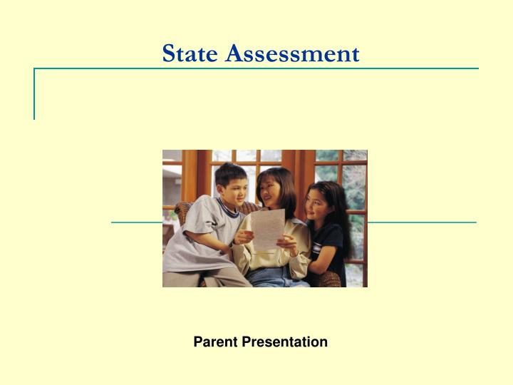 state assessment n.