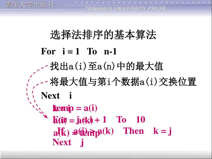 For   i = 1   To   n-1