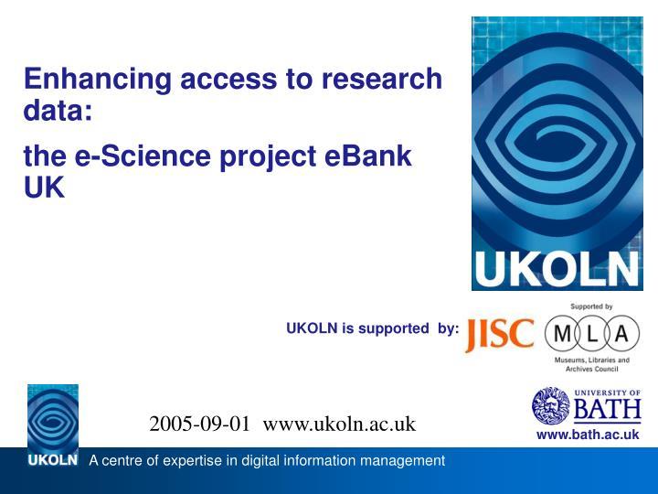 Enhancing access to research data: