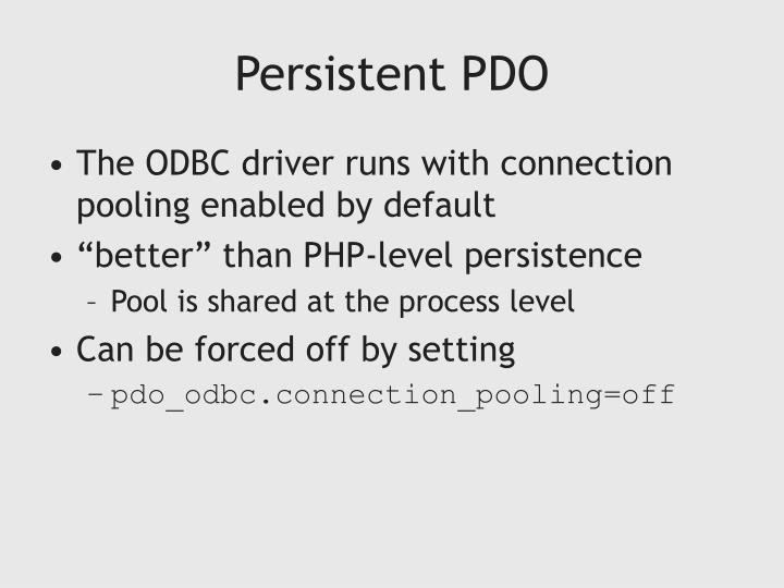 Persistent PDO