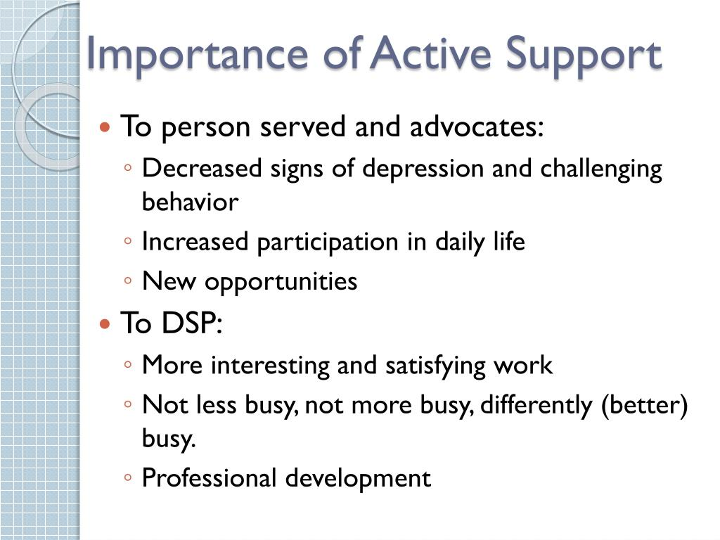 PPT - Empowering DSPs with Active Support in MN PowerPoint