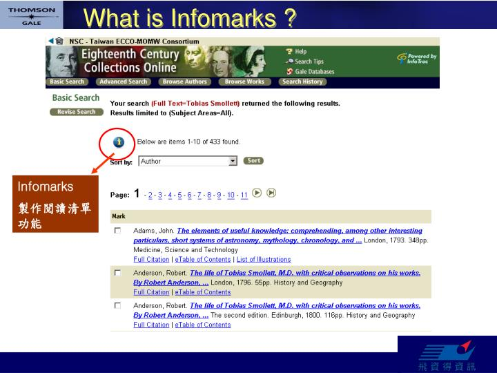 What is Infomarks ?