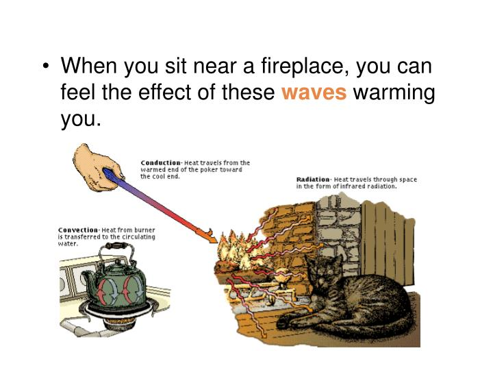 When you sit near a fireplace, you can feel the effect of these