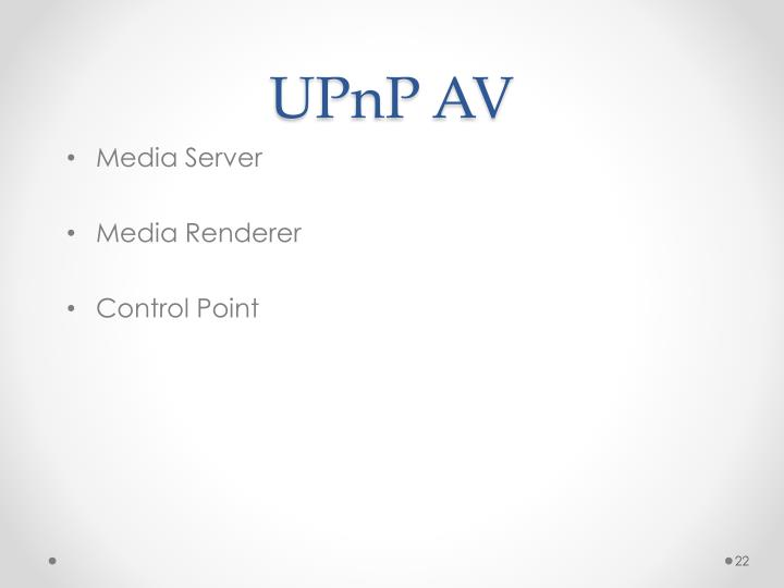 UPnP AV