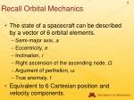 recall orbital mechanics