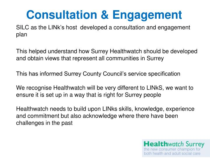 Consultation & Engagement