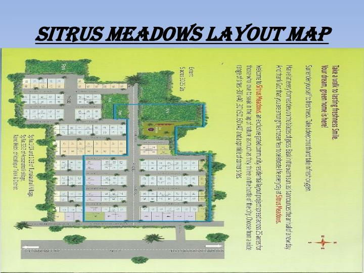 Sitrus meadows layout map