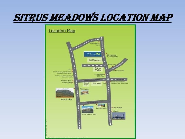 Sitrus meadows location map