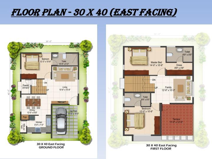 FLOOR PLAN - 30 x 40 (East Facing)