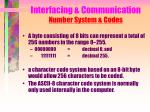 interfacing communication number system codes