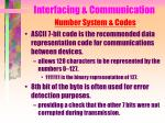 interfacing communication number system codes1