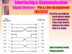 interfacing communication signal devices pin line assignment rs232c10