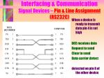interfacing communication signal devices pin line assignment rs232c11
