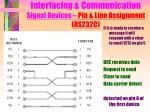 interfacing communication signal devices pin line assignment rs232c12