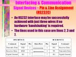 interfacing communication signal devices pin line assignment rs232c3