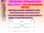 interfacing communication signal devices pin line assignment rs232c6