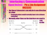 interfacing communication signal devices pin line assignment rs232c7