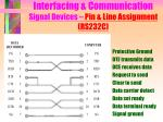 interfacing communication signal devices pin line assignment rs232c9