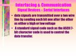 interfacing communication signal devices serial interfaces