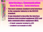 interfacing communication signal devices serial interfaces1