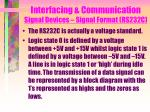 interfacing communication signal devices signal format rs232c