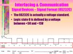 interfacing communication signal devices signal format rs232c1