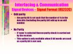 interfacing communication signal devices signal format rs232c10
