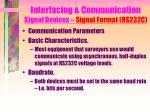 interfacing communication signal devices signal format rs232c11