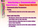interfacing communication signal devices signal format rs232c12