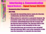 interfacing communication signal devices signal format rs232c14
