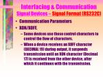 interfacing communication signal devices signal format rs232c15