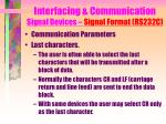 interfacing communication signal devices signal format rs232c16