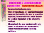 interfacing communication signal devices signal format rs232c17