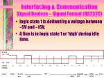 interfacing communication signal devices signal format rs232c2