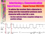 interfacing communication signal devices signal format rs232c4