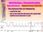 interfacing communication signal devices signal format rs232c5