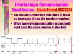 interfacing communication signal devices signal format rs232c6