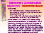 interfacing communication signal devices signal format rs232c8