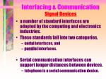 interfacing communication signal devices