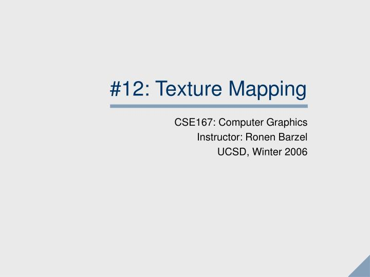 12 texture mapping n.