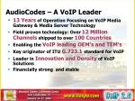 audiocodes a voip leader